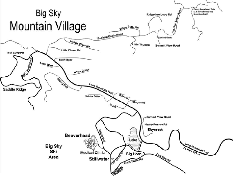 Big Sky Mountain Village Map