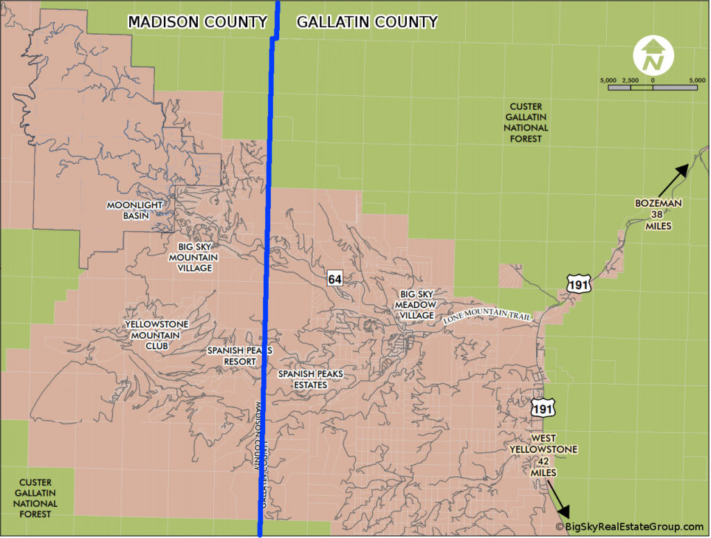 Big Sky County Map