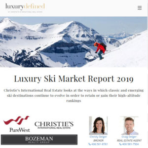 Christies International Luxury Ski Report 2019