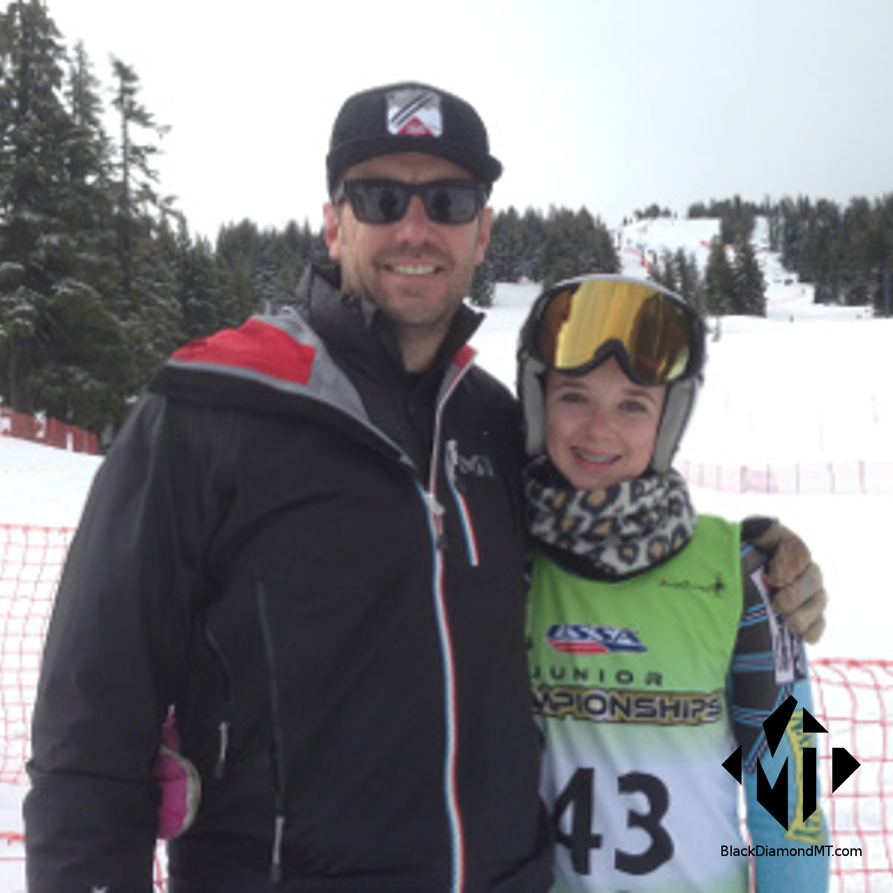 Craig Delger with Ella at Junior Olympics